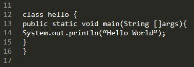 """Hello World"" print using Java-Python Training KL"