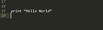 """Hello World"" print using Python-Training KL"